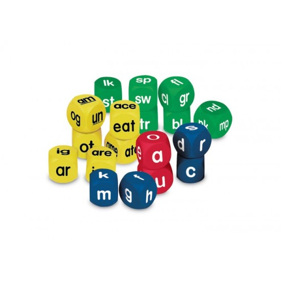 LER0589 Soft Foam Phonics Cubes Set Classroom Resources