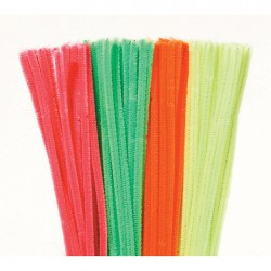 """12"""" Neon Pipe Cleaners Pack 100"""