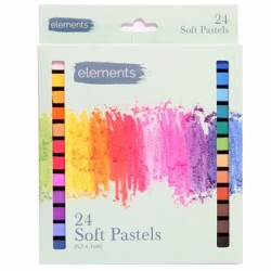 Chalk/Soft pastels mixed colours box 24