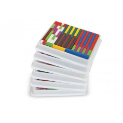 LER7503 Wooden Cuisenaire® Rods Classroom Multi Pack (in six trays)