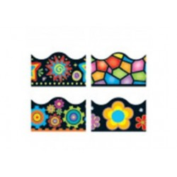 Brights on Black Variety Pack of 4  Borders