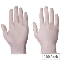 Large Latex Powder free gloves box 100