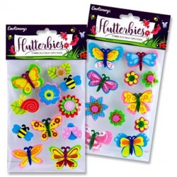 3D Flutterbies Foam Stickers - Butterflies & Flower set 2