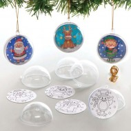 Christmas Colour-in Baubles Pack 32