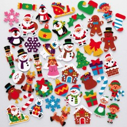 A613 Christmas Santa's Workshop Foam Stickers