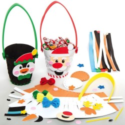 AX4801 Christmas Weaving Basket Kits Pack 4