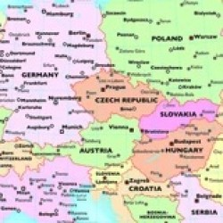 Europe  WALL MAP FOR SCHOOLS - REVERSIBLE Size: 104 x 129cm