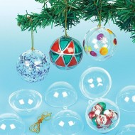Transparent Hanging Baubles Pack 36