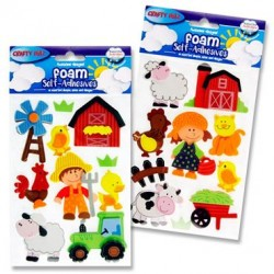 3D Foam Stickers - Farm set 2