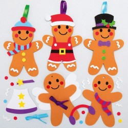 Christmas Gingerbread Mix & Match Decoration Kits pack 8