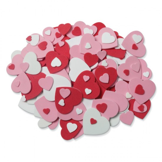 Wonder foam Peel * Stick Heart foam shapes pack 264 pieces