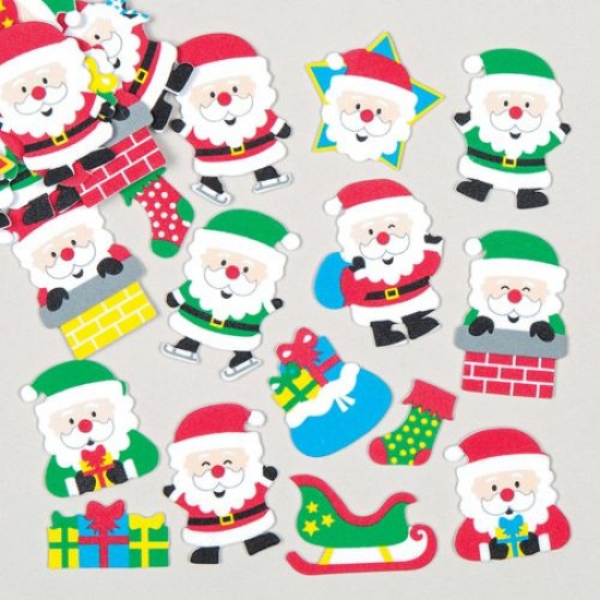 AC378 Jolly Santa Foam Stickers Christmas Shop