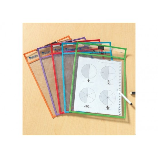 LER0477 Wipe-Clean Pockets (Set of 5) Classroom Resources