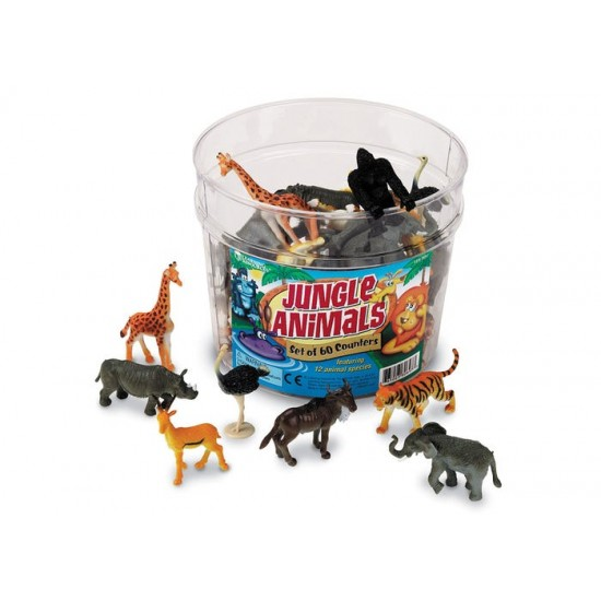 LER0697 Jungle Animal Counters (Set of 60) Classroom Resources