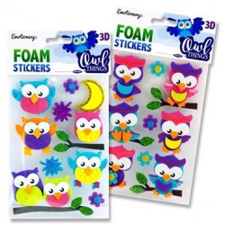3D Foam Stickers - Owl Things set 2