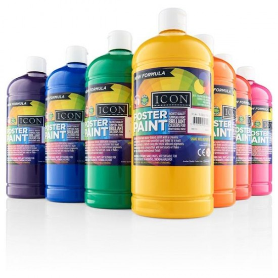 Poster Paint box 12colours 500ml Arts & Crafts