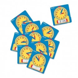 LER 0572 Wipe-Clean Student Clocks (Set of 10)
