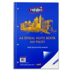 10535 A4 Spiral bound Refill pad  160pg