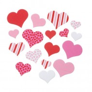 Foam Hearts shapes  - Red, Pink, White