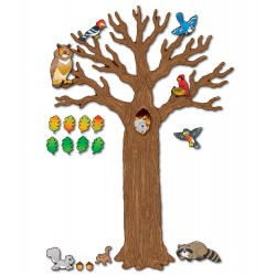 110078 Big Tree with animals  bulletin board display