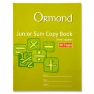 40 page 10mm junior sum copy pk 20