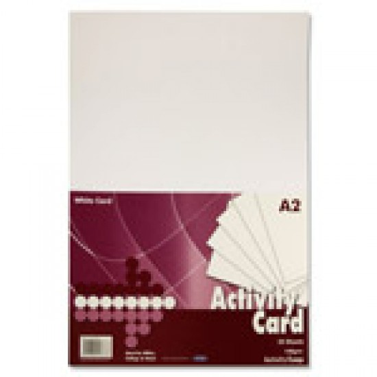 A2 White chart card Arts & Crafts