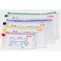 Mesh bags A5 one colour zip Pack 12