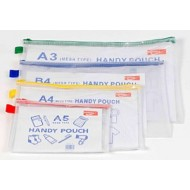 Mesh bags A3 one colour zip Pack 12