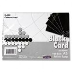 A3 Black card pack 20 sheets