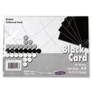 A3 Black card pack 100 sheets