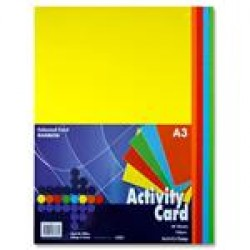 A3 Coloured card pack 100 sheets