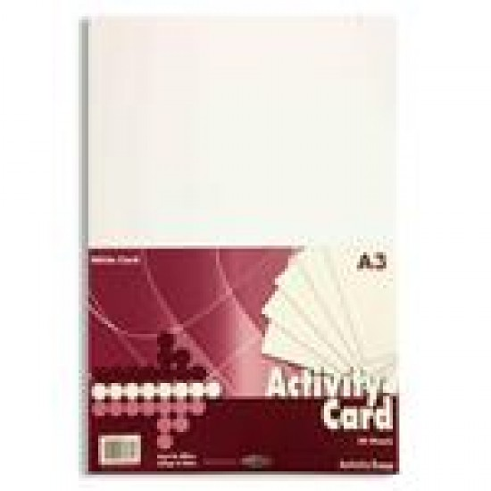 A3 White card pack 50 sheets Arts & Crafts