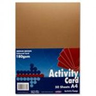 A4 Brown card pack 50
