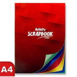 A4 64 Page Coloured Scrap Book pack 10