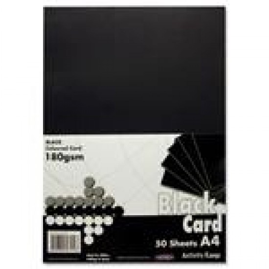A4 Black card pack 40 sheets