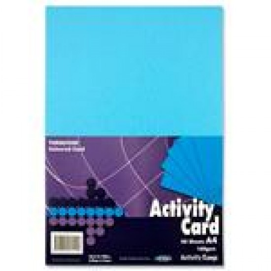 A4 Blue card pack 50 sheets