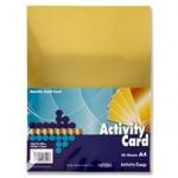 A4 Metallic Gold card
