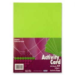 A4 Green card pack 50 sheets
