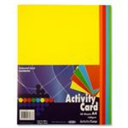 A4 mixed coloured card pack 250 sheets