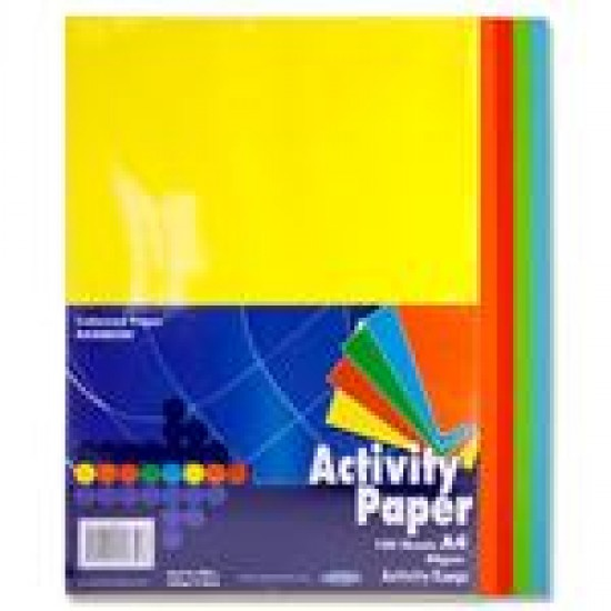 A4 Mixed Coloured paper pack 100 sheets Arts & Crafts
