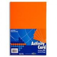 A4 Orange card pack 50 sheets