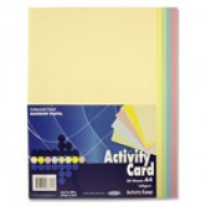 A4 Pastel card pack 50 sheets