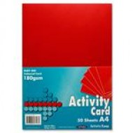 A4 Red card pack 250 sheets