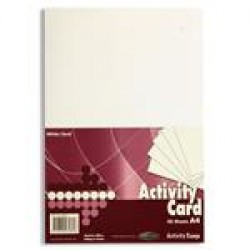 A4 White card pack 50 sheets