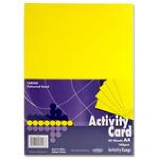 A4 Yellow card pack 250 sheets Arts & Crafts