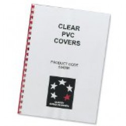 Clear binding PVC cover