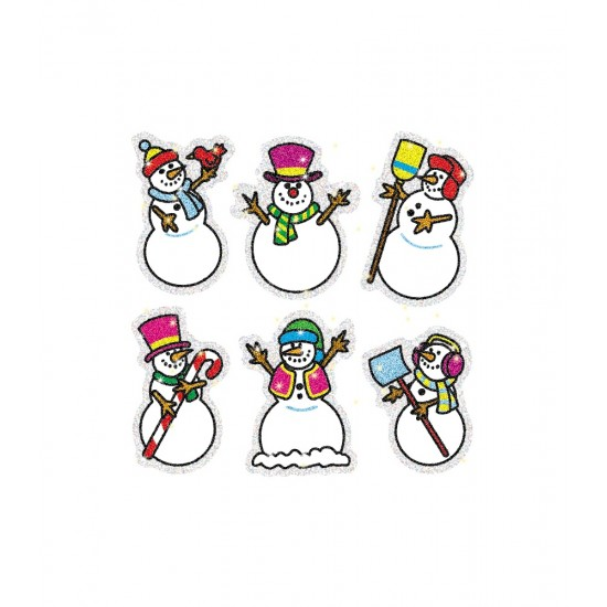 CD-2926 Snowman dazzle stickers pack 90