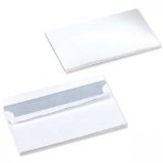 Envelopes DL white self seal (No window)