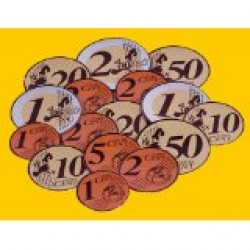 Magnetic Euro coins & Notes