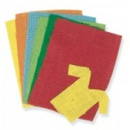 "Coloured Hessian Assorted pack 6 sheets 9"" x 11"""